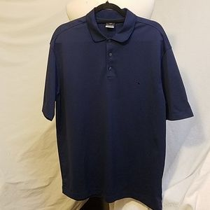 NIKE GOLF - DRI-FIT UV Blue Golf Shirt, size Large
